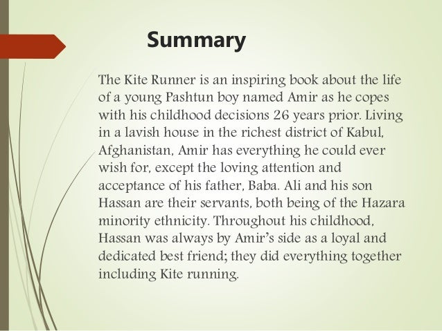 the kite runner analysis The kite runner, by khaled hosseini, follows the maturation of amir, a male from  afghanistan who needs to find his way in the world as he realizes that his own.