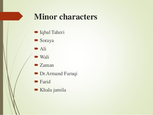 Character Map for The Kite Runner Storyboard by kristy littlehale Chapter        Amir and Soraya get married  The engagement was cut short due  to