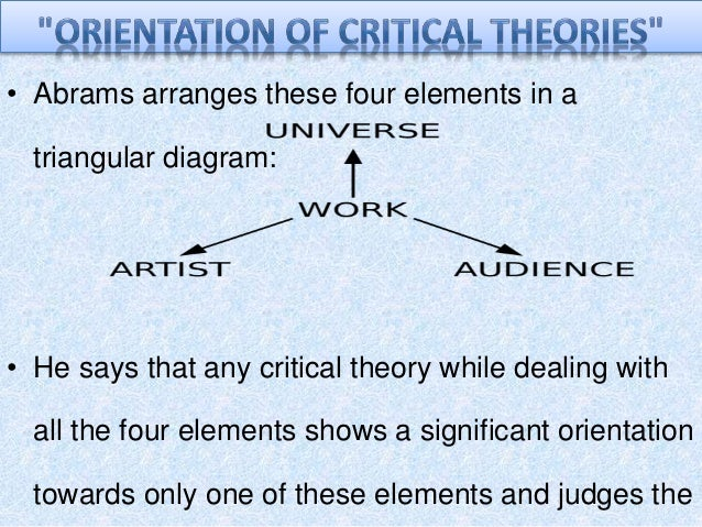 an orientation to the critical theories The normative orientation of critical theory, at least in its form of critical social  inquiry, is therefore towards the transformation of capitalism into.