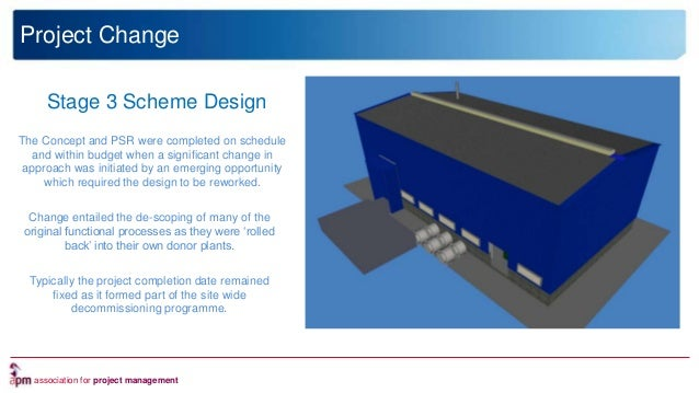 association for project management Nuclear Technology and Innovation Stage 3 Scheme Design The Concept and PSR were comple...