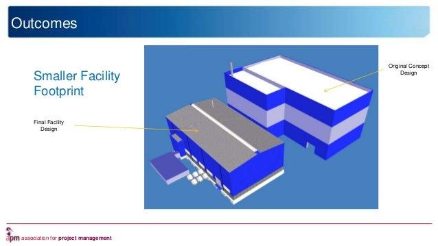 association for project management Outcomes Smaller Facility Footprint Final Facility Design Original Concept Design