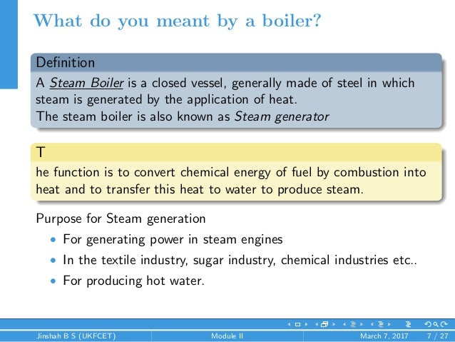 Introduction to boilers