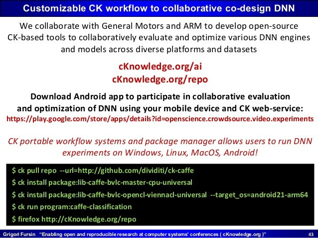 """Grigori Fursin """"Enabling open and reproducible research at computer systems' conferences ( cKnowledge.org )"""" 4343 Customiz..."""