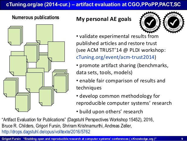 """Grigori Fursin """"Enabling open and reproducible research at computer systems' conferences ( cKnowledge.org )"""" 99 cTuning.or..."""