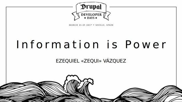 THANKS! Zequi V´azquez @RabbitLair Information is Power