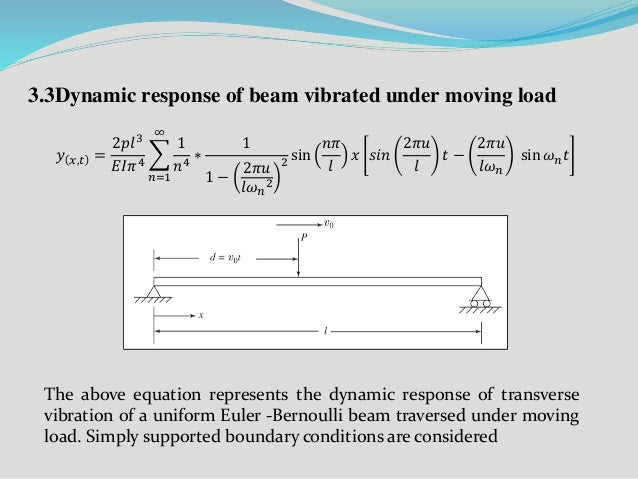 on the dynamic response of uniform In this article, the dynamic response of a non-uniform timoshenko beam acted upon by a moving mass is extensively investigated to this end, the eigenfunction expansion method is adapted to the problem, employing the natural mode shapes of a uniform timoshenko beam moreover, the orthonormal .