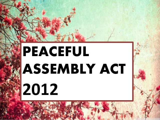 Peaceful Assembly Act 2012 Malaysia
