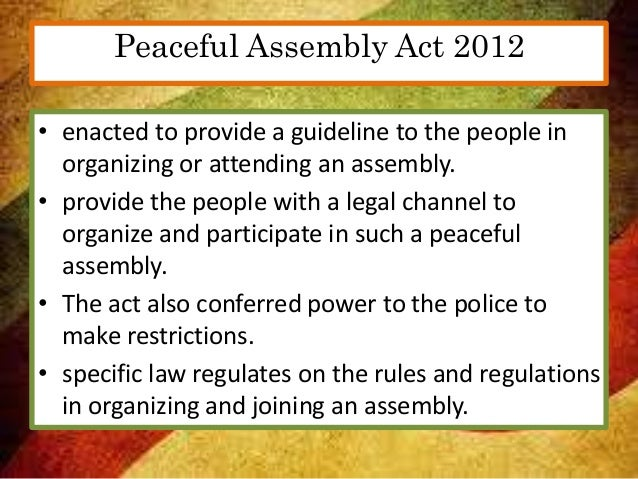 the crime of unlawful assembly