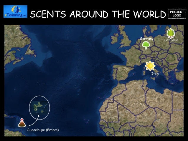 Guadeloupe (France) Lithuania Germany Italy SCENTS AROUND THE WORLD PROJECT LOGO