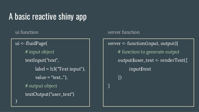 A Tour of Building Web Applications with R Shiny