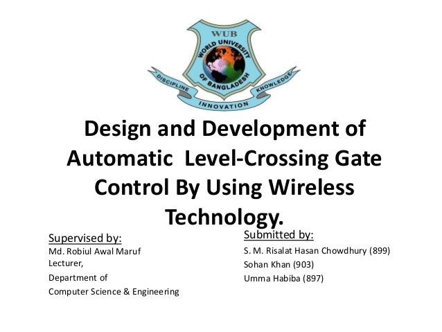 Presentation on Design and Development of Automatic Level