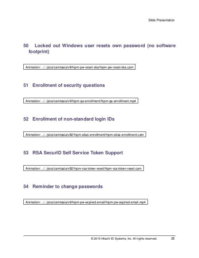 Hitachi ID Password Manager