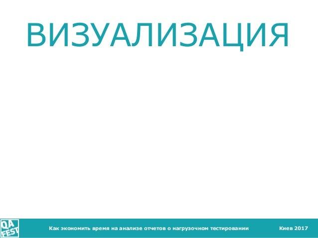 Киев 2017 ВИЗУАЛИЗАЦИЯ Как экономить время на анализе отчетов о нагрузочном тестировании