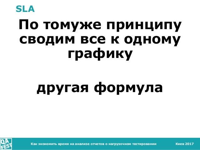 Киев 2017 SLA По томуже принципу сводим все к одному графику другая формула Как экономить время на анализе отчетов о нагру...