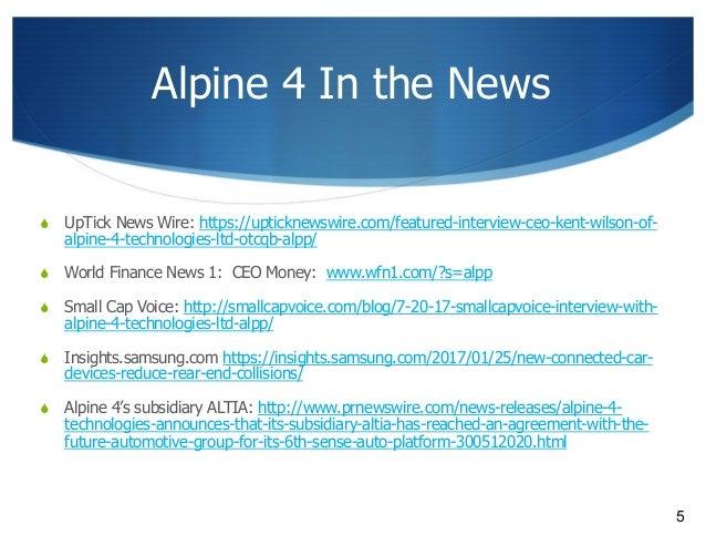 Alpine 4 Technologies- Presentation