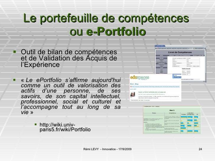 exemples de portefeuilles de competences