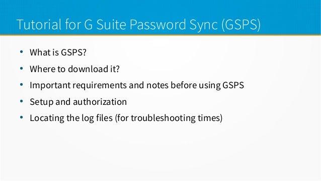 G Suite Password Sync Tutorial