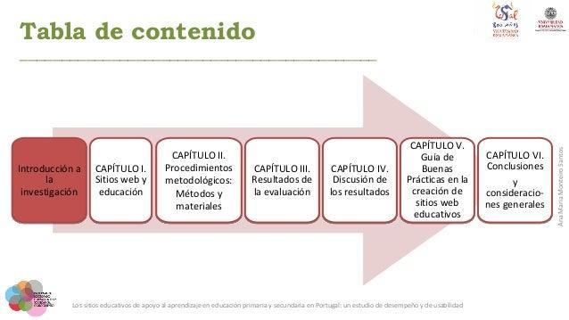Los sitios educativos de apoyo al aprendizaje en educación primaria y secundaria en Portugal: un estudio de desempeño y de usabilidad Slide 3