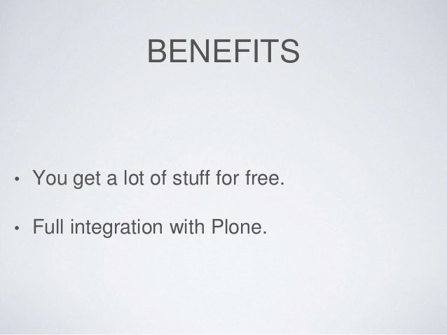 Performant applications in Plone Slide 3