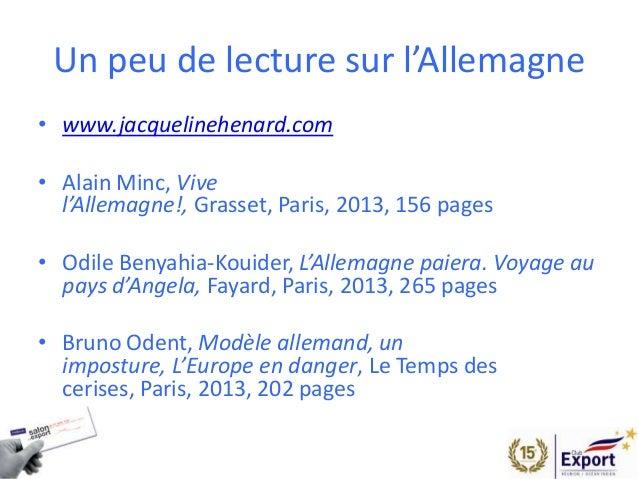 Salon de l 39 export 2014 presentation allemagne - Chambre de commerce franco allemande paris ...