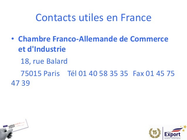 Salon de l 39 export 2014 presentation allemagne for Chambre de commerce franco arabe paris