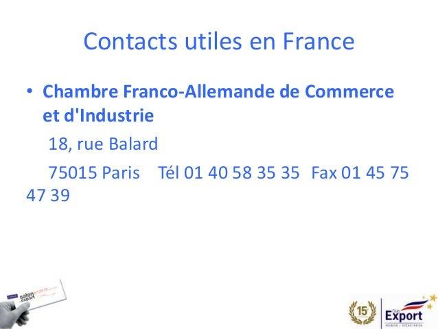Salon de l 39 export 2014 presentation allemagne for Chambre commerce franco allemande