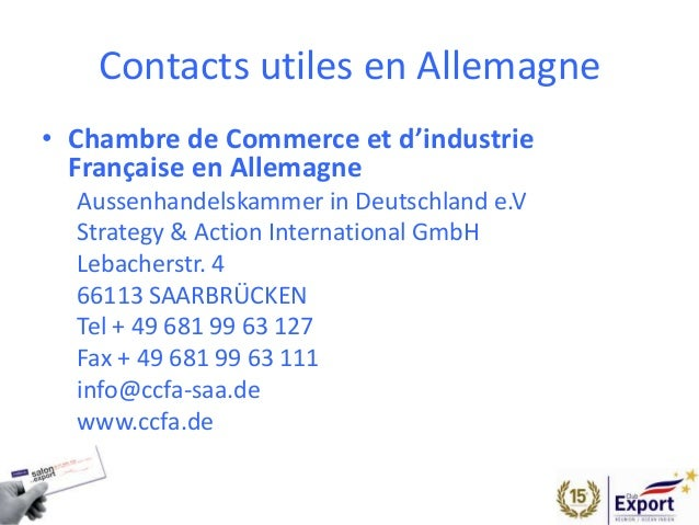 salon de l 39 export 2014 presentation allemagne