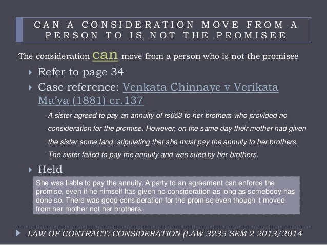 past consideration law Bbbl2023 commercial law tutorial 3: 1 which sections of the contracts act  recognised past consideration answer: there are 2 sections in the ca: a).
