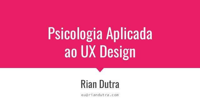 Psicologia Aplicada ao UX Design (Belas Artes, SP)