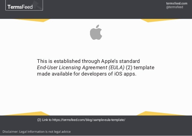 Using Apple\'s Standard EULA for Your Mobile App
