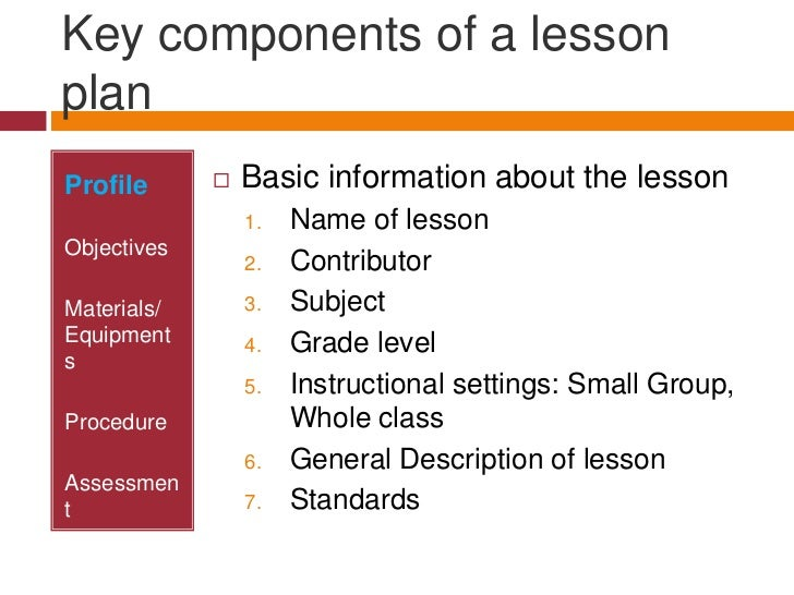 Lesson Plan PowerPoint Presentation