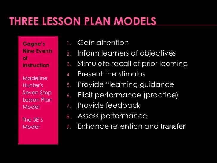 Madeline Hunters Seven Step Lesson Plan Model