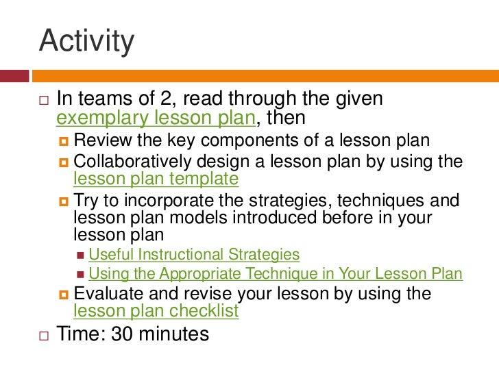 Three Lesson Plan Models<br /><ul><li>Step 1. Review