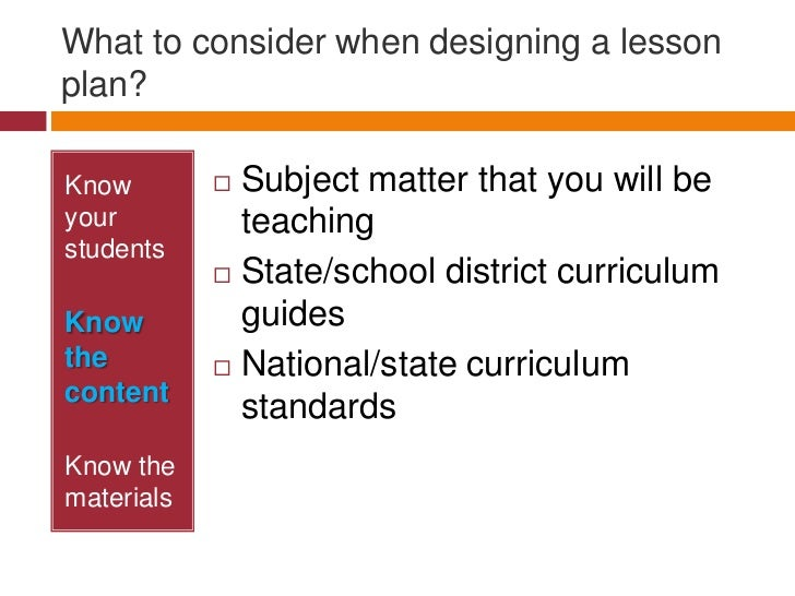 lesson plan ppt science