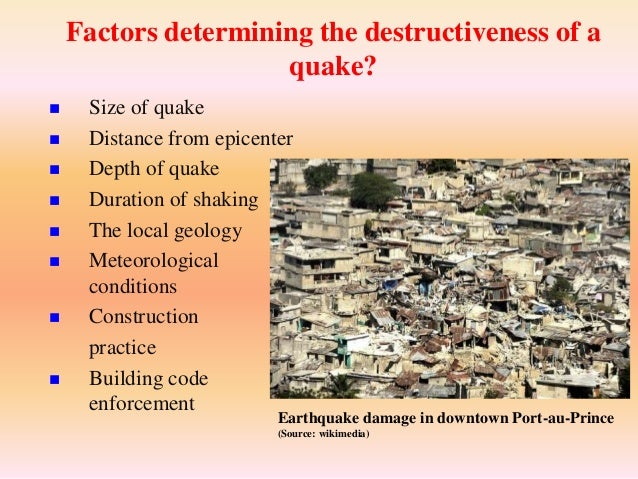 Earthquake and its effect