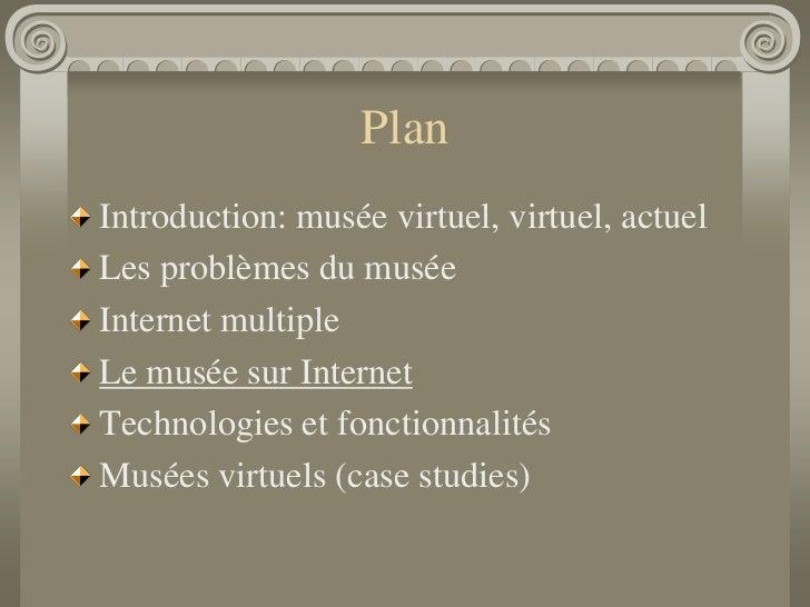 Musée virtuel - Le musée sur Internet