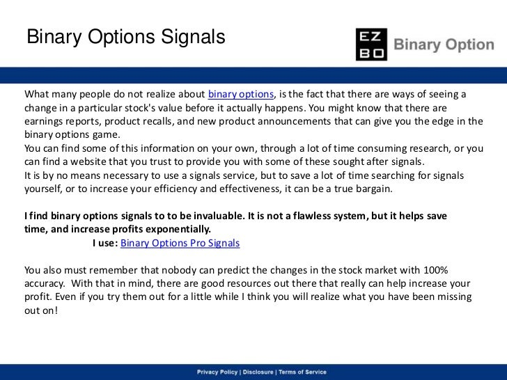Binary option tutor