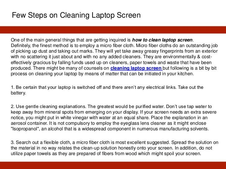 Cleaning Laptop Screen With In The Groove Liquid Free