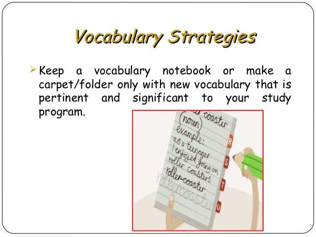 Presentation: vocabulary learning, vocabulary strategies