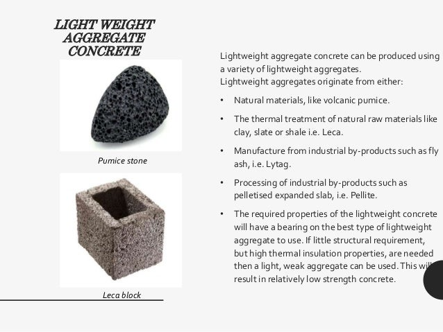 Lightweight Aggregate Concrete : Self compacting concrete light weight