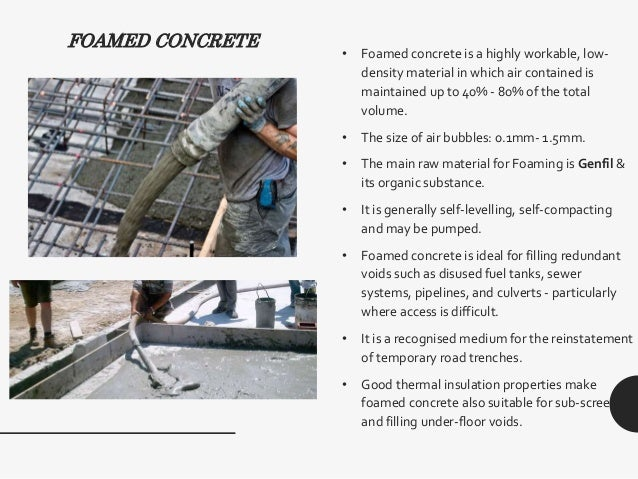 Low Density Fill Concrete : Self compacting concrete light weight