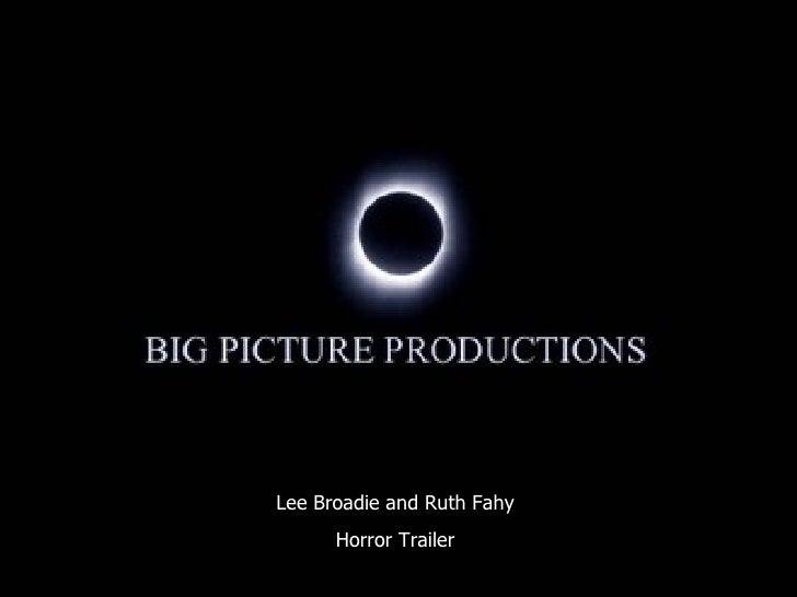 Lee Broadie and Ruth Fahy Horror Trailer