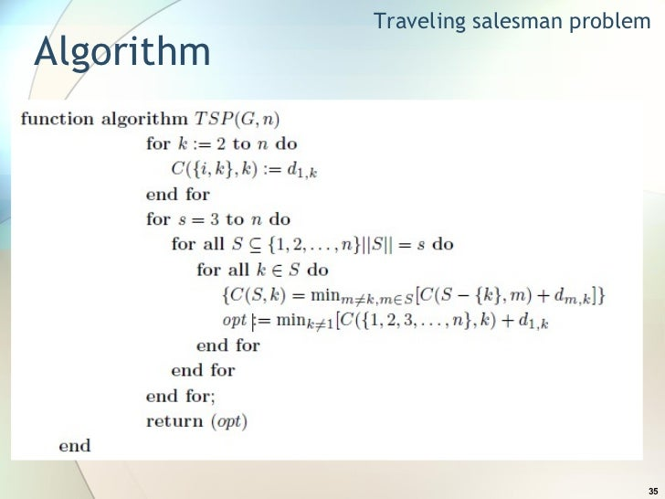 Research Paper On Travelling Salesman Problem Using