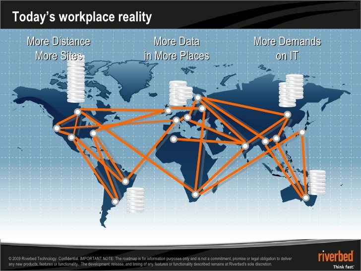 Today's workplace reality More Distance More Sites More Data in More Places More Demands on IT