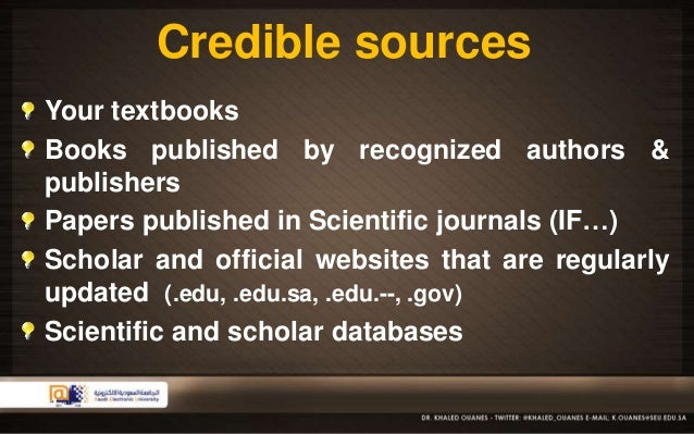 academic writing authority and credibility quotes