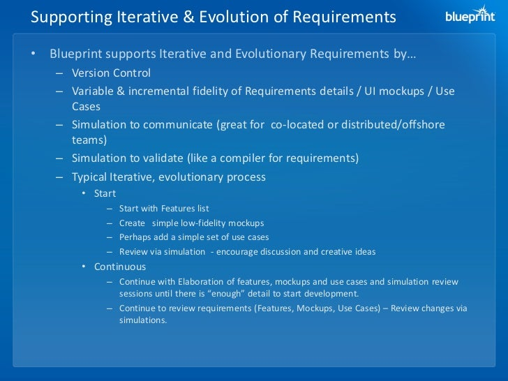 Presentation agile with blueprint requirements center malvernweather Image collections