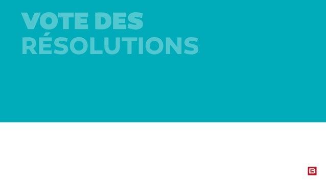 Présentation Assemblée Générale Mixte 2014