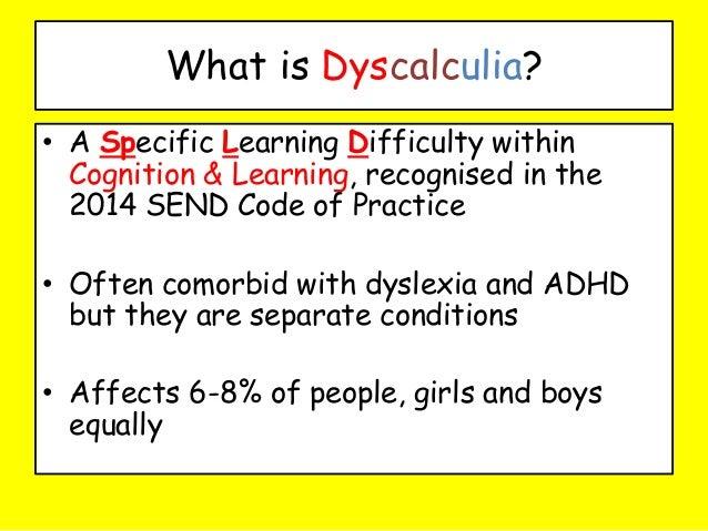 dyscalculia
