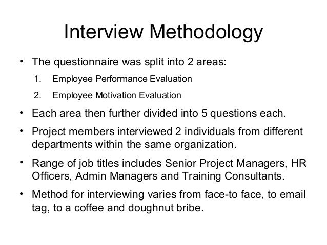 An analysis of employee motivation and