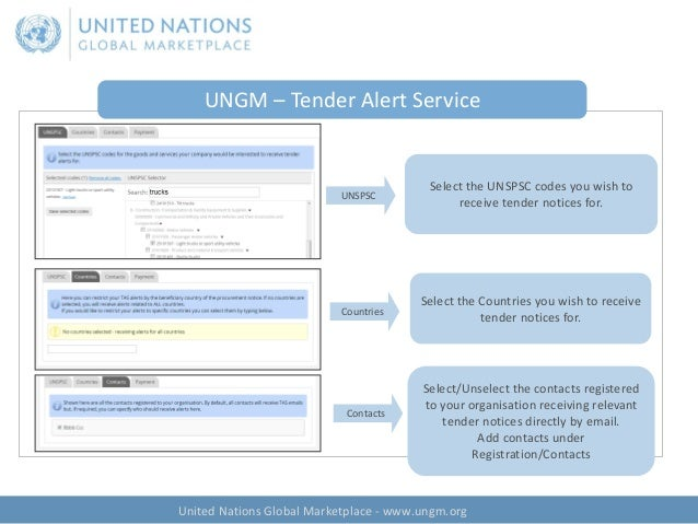 Registering as a Potential Vendor with the United Nations